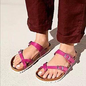 Birkenstock Mayari Patent Pink Sandals 37 M NEW